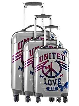American Revival Set 3 Trolley United Love (Argento)