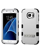 MyBat Cell Phone Case for Samsung Galaxy S7 - Retail Packaging - Black/Grey