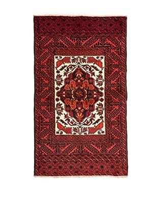 Navaei & Co Alfombra Persian Mashad Rojo/Marfil 155 X 87 cm