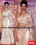 Indian Bollywood Actress Deepika Padukone Replica Gorgeous Party Wear & Wedding Wear Saree sari