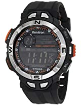 Armitron Men''s 408233ORG Chronograph Multi-Function Orange Accented Black Resin Sport Watch