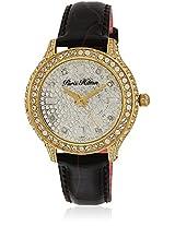 H Ph12988jsg/04C Black/Silver Analog Watch Paris Hilton