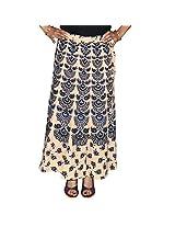Marusthali Women's Cotton Wrap Skirt (Mwsl00003 _Purple _Large)