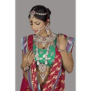 8-piece Multicolour Bridal Necklace Set