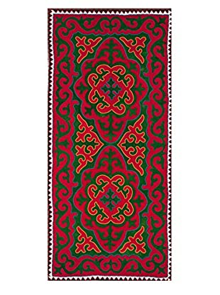 nuLOOM One-of-a-Kind Hand Crafted Shydrak Felted Tribal Rug, Billiard Green, 4' 5