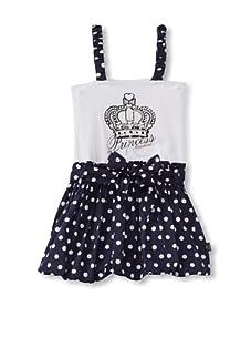 KANZ Girl's Sleeveless Dress (White)