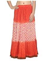 Rajrang Party Wear Skirt Long Tie Dye Work Womens Dress Skirt