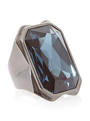 Judith Leiber Gunmetal Montana Cocktail Ring