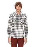 Ben Shermann Camisa Cuadros Lisandru (Beige / Marino)