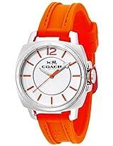 Coach Coach Boyfriend Small Neon Orange Silicon Rubber Strap Watch - W1362 Duf Wmn