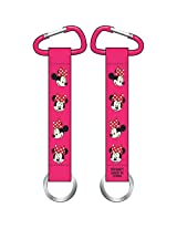 Minnie Mouse Faces Lanyard Keychain