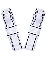 NeedyBee double deck stitched design White Hair Clip - pack of two