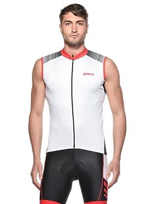 Briko Sparkling Ärmelloses Funktionsshirt (weiß rot schwarz)