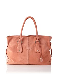 Tod's Women's Medium Draw-Top Satchel, Peach