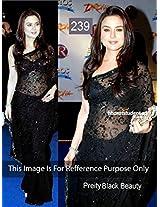 Bollywood Replica Sarees Preity Zinta Black Beauty By Namo House