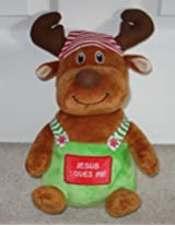Jesus Loves Me Soft Reindeer Plush - 11 Inches