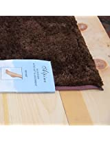 """Alpine Chocolate Brown Bathroom Mat- Absorbent and Ultra Plush, 4 Sizes Available (21"""" x 34"""")"""