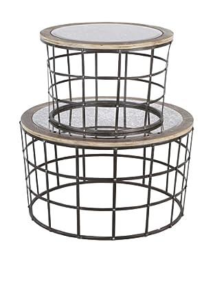 Mercana Gaiola Set of 2 Mirror Cage Tables