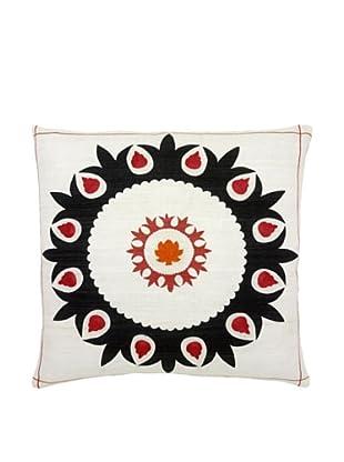 Mela Artisans Hand-woven Sabah Silk Pillow, Black