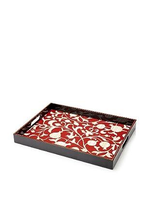 rockflowerpaper Quince Red Rectangular Tray