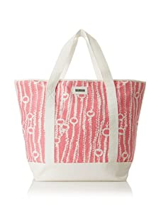 Julie Brown Medium Tote Bag with Cooler Lining (Pink Chains)