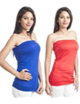 Teemoods Womens Viscose Long Sleeve Top (Tm-C-1465Blu&Red-L _Blue N Red _Large)