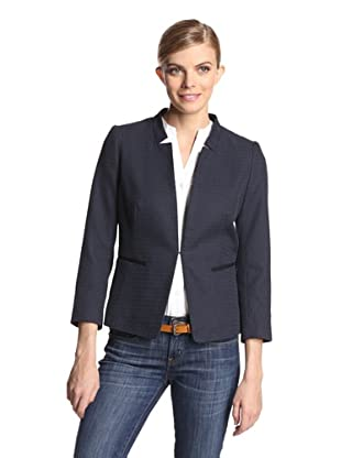 Gerard Darel Women's Notch Collar Blazer (Navy)