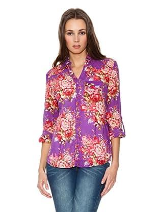 Mango Camisa Fiore (Violeta)