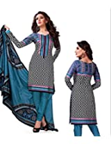 Kesar Printted Cotton (Unstitched) dress material (SA1006)
