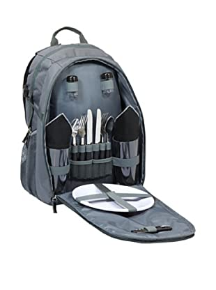Picnic Time Escape Insulated Picnic Pack with Service for 2 (Gray/Black)