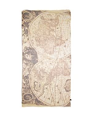 CHIC Women's Antique Map Digital Woven Viscose Scarf, Antiquities, One Size