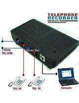 2 port USB Intellicall Voice Logger Telephone Recorder