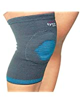 Tynor Knee Cap with Open Patellar Ring - Large (Single, Grey/Skin color)