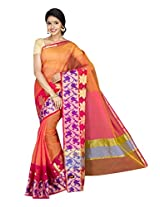 Korni Cotton Silk Banarasi Saree ISL-669- Pink KR0437