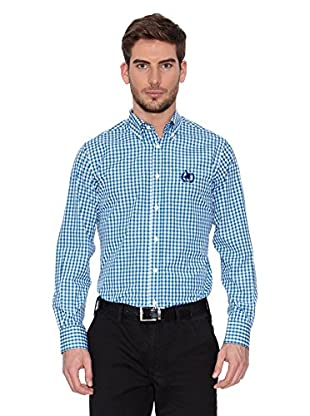 Polo Club Camisa Hombre Checks (Turquesa)