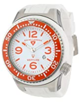 Swiss Legend Men's 21818S-C-T Neptune White Dial White Silicone Watch