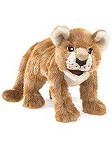 Folkmanis African Lion Cub Hand Puppet Plush
