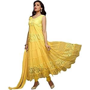 Traditional Yellow Anarkali Suit