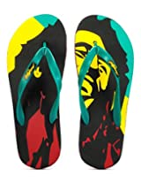 Freetoes Men Bob Multicolor Flip Flops (FTBOBBLACK10) 11 UK