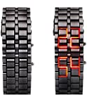 ADAMO Volcanic Lava Samurai Faceless LED Bracelet Watch