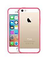 AirPlus AirCase Crystal Clear Back with see through Bumper HD UV Coated For Apple Iphone 5/5S[BUBBLE GUM]