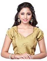 Khoobee Presenting Festive Special Zari Worked Stitched Art Silk Blouse.(Golden)