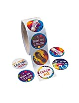 Color Run Roll Stickers (200 Stickers)