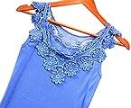 Lacework Embellished Vest Blue