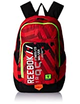 Reebok Polyester Red Laptop Bag (AE9737)