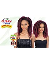 "Shake N Go Equal Cuban Twist Braidable Weave 12"" (1 B Off Black)"