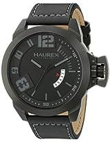 Haurex Italy Men's 6N509UJN Storm Analog Display Quartz Black Watch