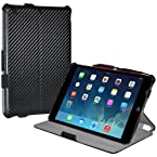 Amzer 97089 Shell Portfolio Case - Black Carbon Fiber Texture for Apple iPad mini with Retina Display, Apple iPad mini