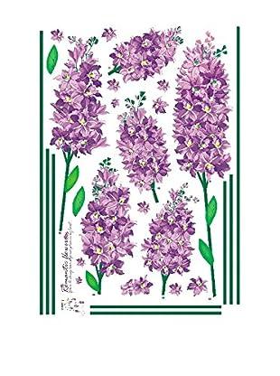 Ambience Live Wandtattoo Iris romantic flowers mehrfarbig