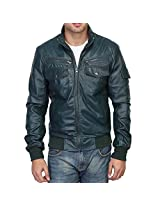 REGULAR FIT GREEN CUSTOMIZE LEATHER JACKET